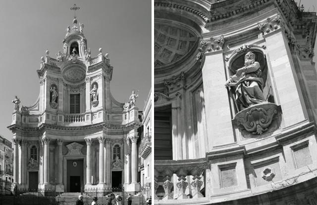 """""""Basilica della Collegiata"""" by Berthold Werner is licensed under CC BY-SA 3.0 // """"Dettaglio della facciata di La Collegiata"""" by Giovanni Dall'Orto is licensed under Attribution"""