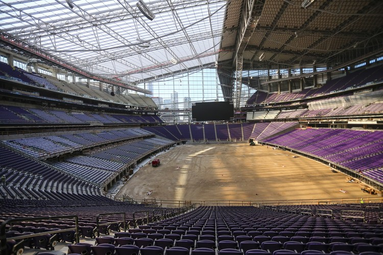 Interior From East. Image Courtesy of Minnesota Vikings