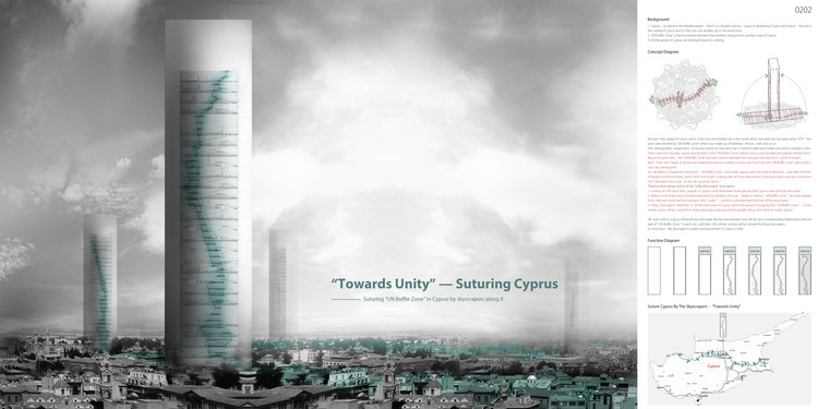 """Towards Unity: Suturing Cyprus"" / Lin Rujia. Image Courtesy of eVolo"
