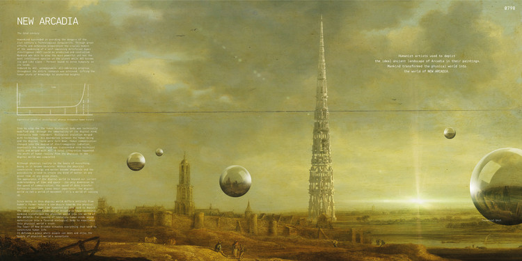 """Tower of New Arcadia"" / Joseph Konrad Kosmas Schneider, Vincent Johann Moller. Image Courtesy of eVolo"