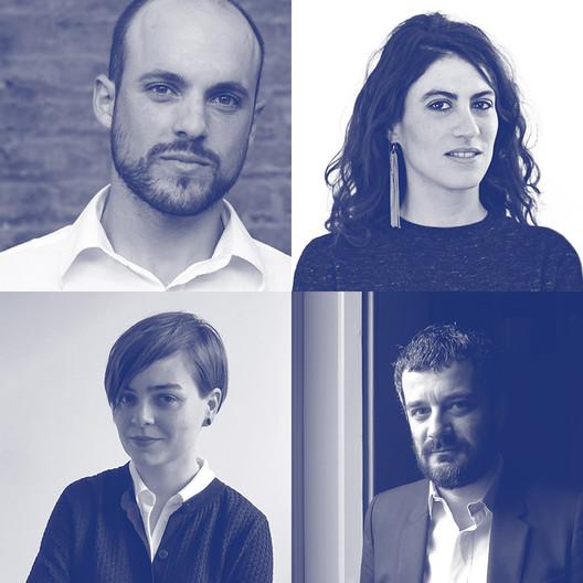 Los cuatro finalistas, según sentido de las manecillas del reloj: Samuel Bravo, Matilde Cassani, Pier Paolo Tamburelli y Anna Puigjaner,. Image vía Wheelwright Prize