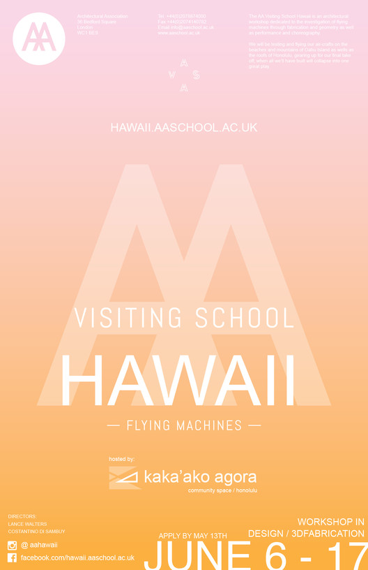 AA Visiting School Hawaii, AA Visiting School Hawaii 2016