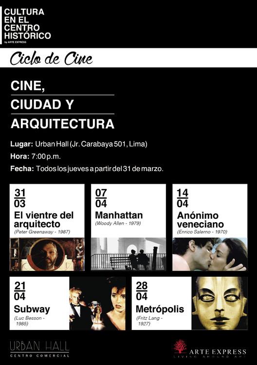 """Ciclo """"Cine, Ciudad y Arquitectura"""" , vía Arte Express"""