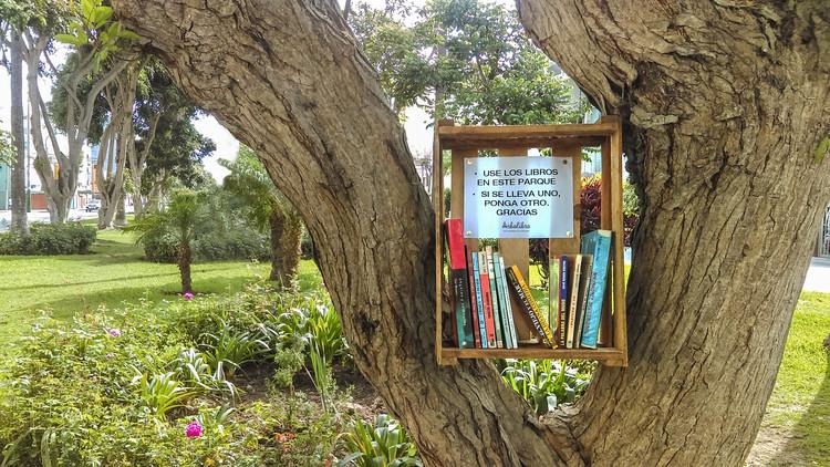 Arbolibros: Cultivando la lectura en los espacios públicos, Arbolibro en Magdalena, Lima. Por Gonzalo Díaz. Image © Gonzalo Díaz