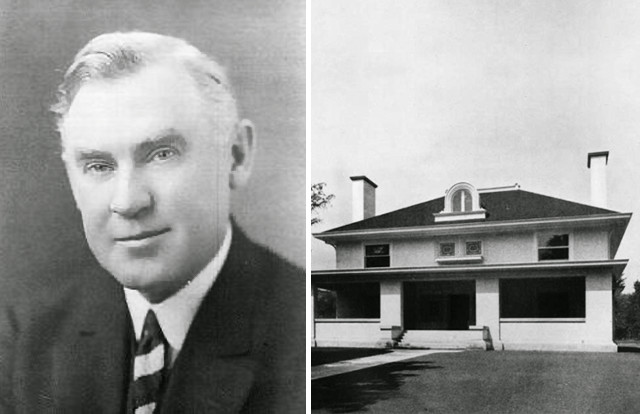 """""""George W. Maher"""" by spicerweb.org is licensed under Public Domain // """"William Coffeen House"""" by Inland Architect magazine (vol. 35 no. 14) is licensed under Public Domain"""