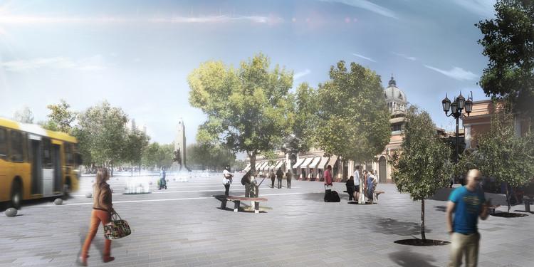 Plaza Mercado Central. Image Cortesía de DUPLA Arquitectos
