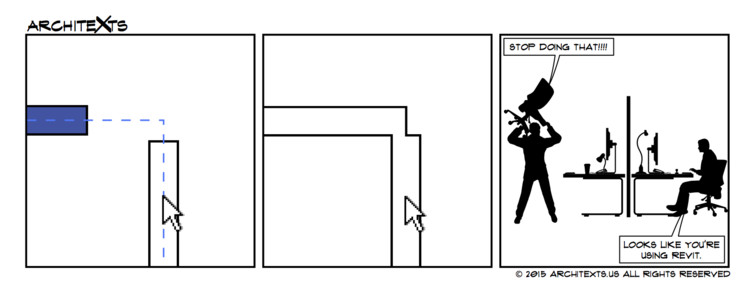 "Comic Break: ""Annoying Revit Commands"", © Architexts"