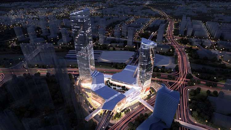 Atkins to Create Transit Oriented Masterplan for Indonesia's First High Speed Rail Corridor, Atkins-designed Cadre International TOD Centre. Image Courtesy of Atkins