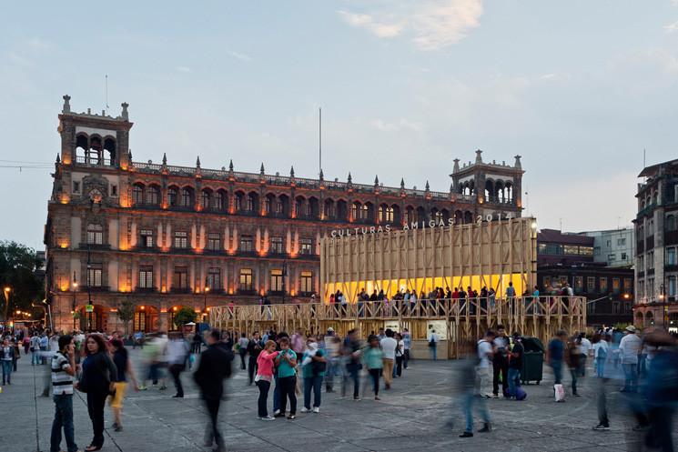 PRODUCTORA's Pavilion on the Zocalo Wins MCHAP.emerge 2014/2015, © Luis Gallardo