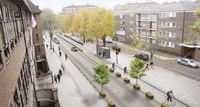 Propuesta de ciclovía de la alcaldía de Londres