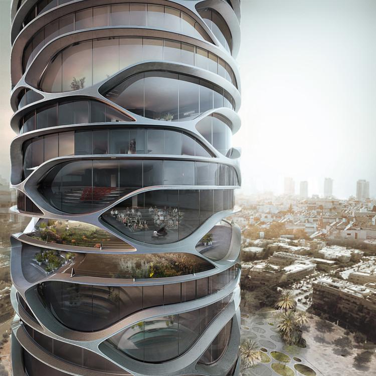 David Tajchman propone rascacielos cilíndrico en Tel Aviv, © David Tajchman 2016