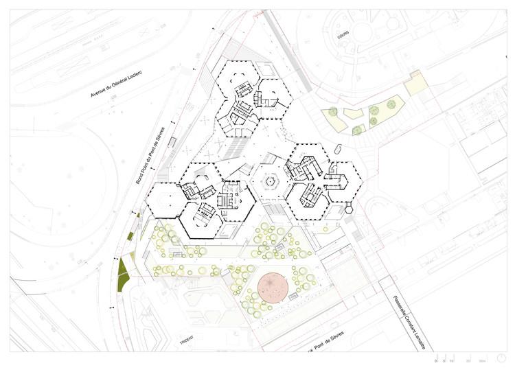 Floor Plan Renovation - © Dominique Perrault Architecture /Adagp