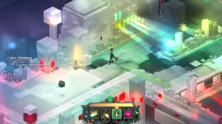 """Espacio en estado avanzado de """"procesamiento"""". Image © Supergiant Games"""