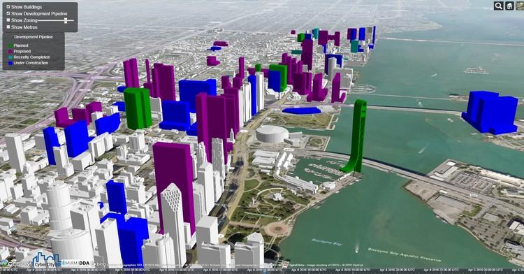 Captura de pantalla del mapa interactivo