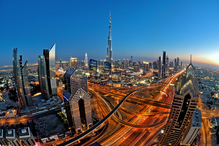 Freedom of Panorama: The Internet Copyright Law that Should Have Architects Up in Arms, Dubai Skyline, including at its center the Burj Khalifa by SOM. Image © Naufal MQ via Shutterstock.com