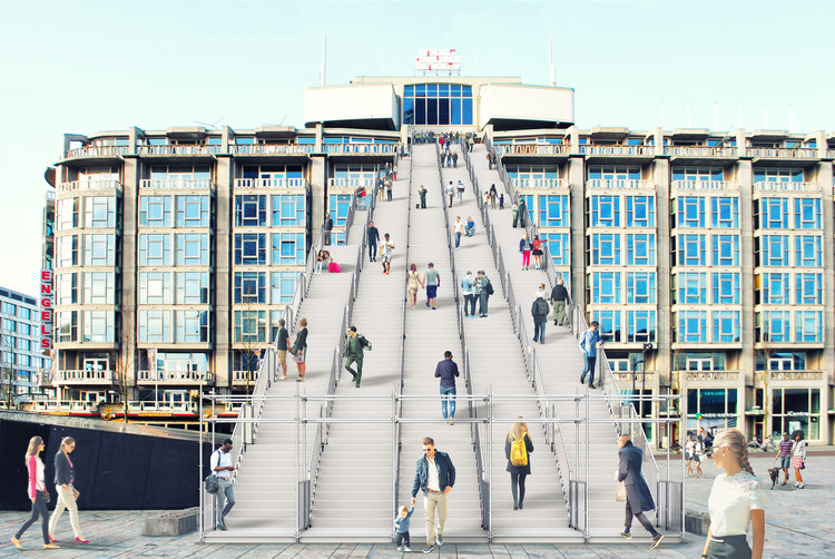 Escalera hasta Groot Handelsgebouw, Rotterdam. Image © Antonio Luca Coco