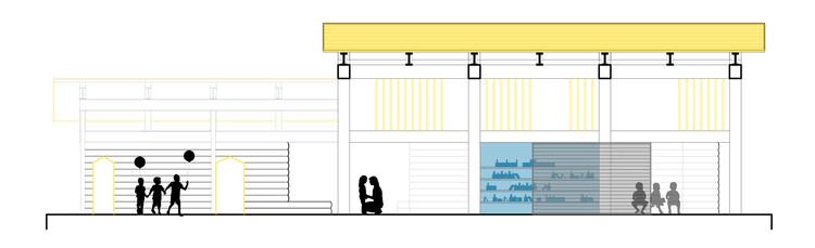 Sección/Corte 01. Image © knitknot architecture