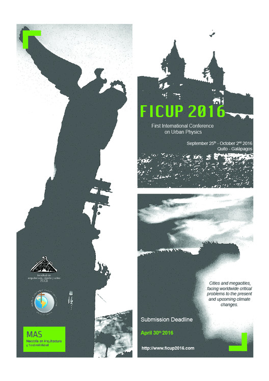 Call for Papers: First International Conference on Urban Physics, First International Conference on Urban Physics, Quito - Galápagos, 25 September - 2 October 2016