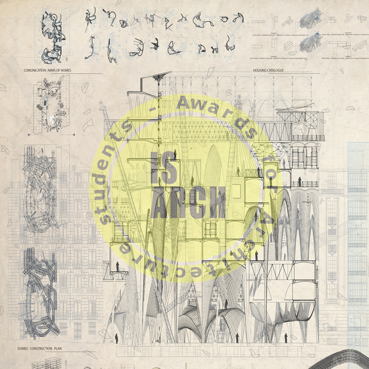 Premios IsArch para estudiantes de arquitectura, Adrian Ubeda Beltran, can we design housing without typologies?