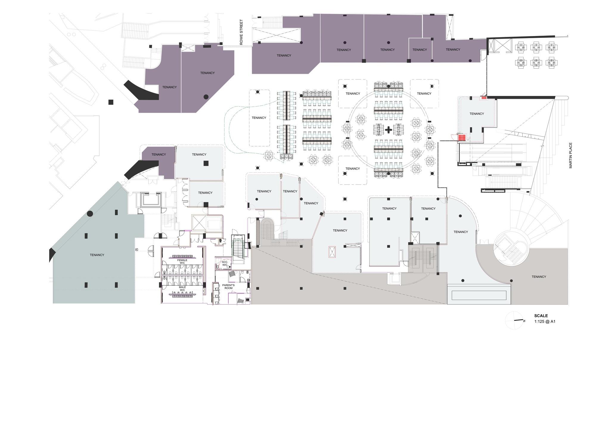Gallery Floor Plans Gallery Of Mlc Centre Food Court Luchetti Krelle 18
