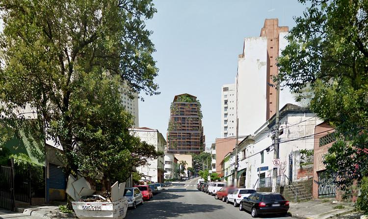 Vista hacia la fachada noroeste. Imagen Cortesía de Grupo Allard