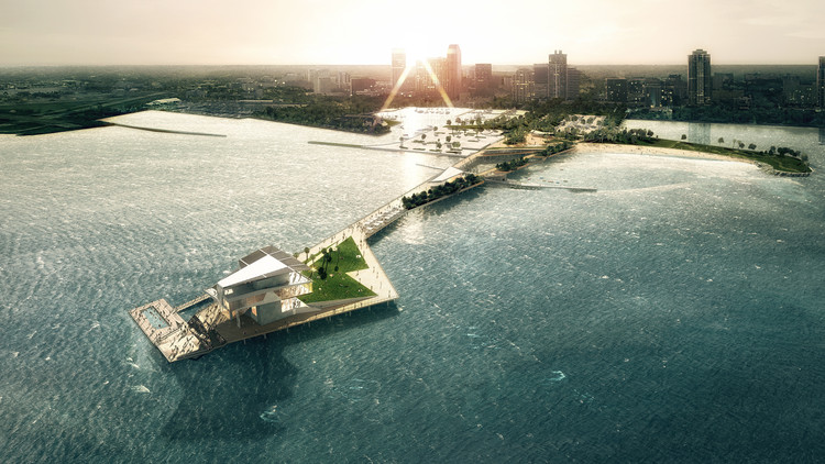 Schematic Design of St. Petersburg Pier Wins City Council Approval, Courtesy of ROGERS PARTNERS Architects+Urban Designers