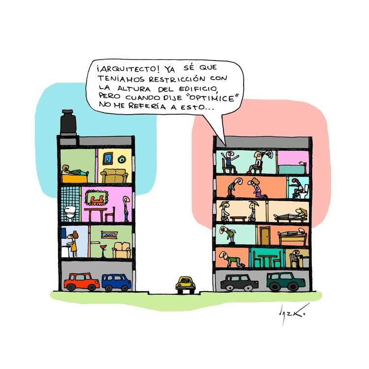 Optimizar. Image Cortesía de Lucho Gris, arquitecto peruano