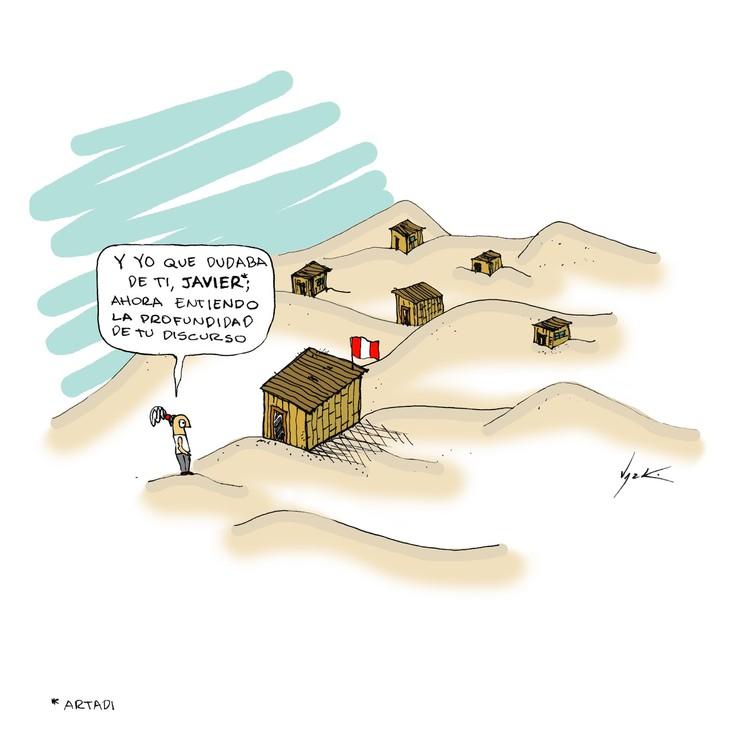 El cubo en el desierto. Image Cortesía de Lucho Gris, arquitecto peruano