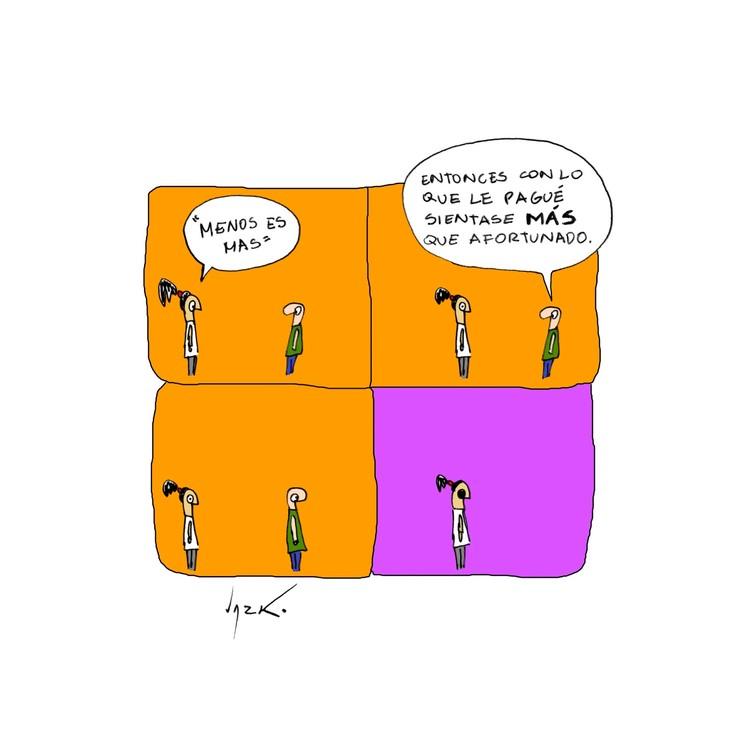 Menos es más. Image Cortesía de Lucho Gris, arquitecto peruano
