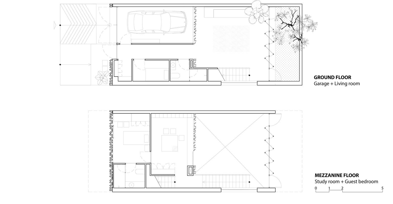 Wonderful Cool Gallery Of Thong House With Mezzanine Floor Plan House.