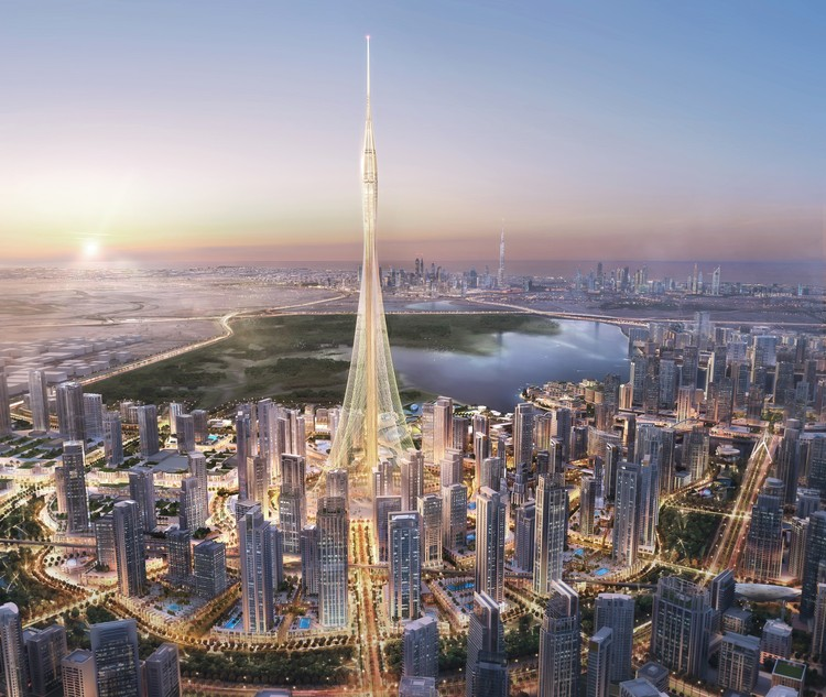dubai landmark observation tower by santiago calatrava