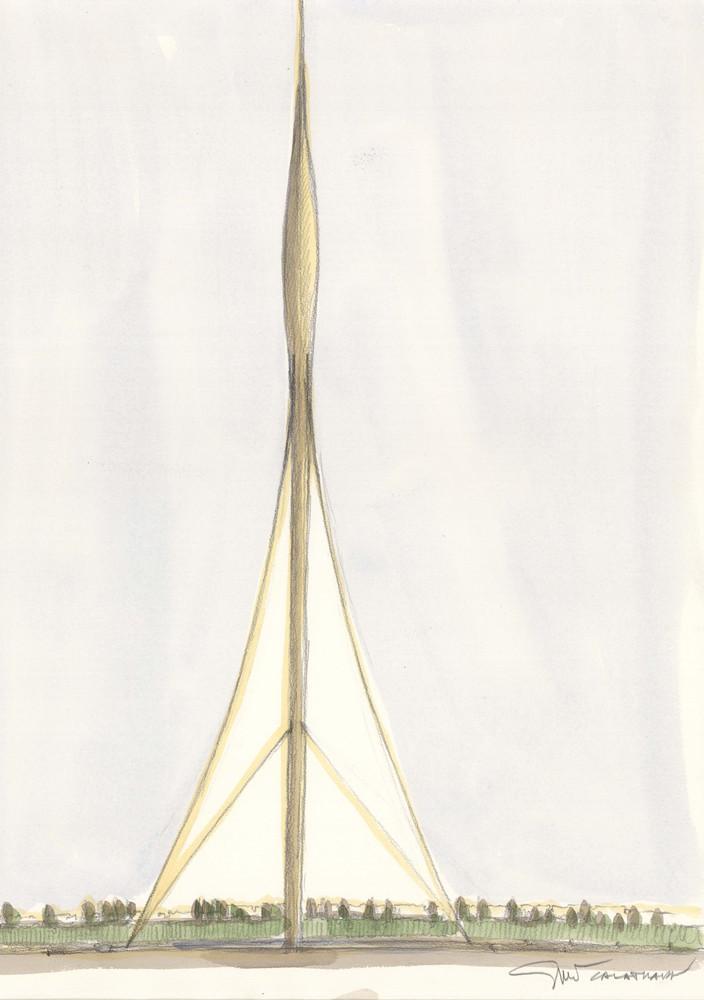 santiago calatrava reveals new details about dubai observation of santiago calatrava