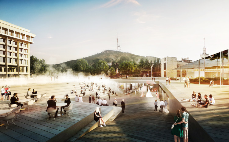 GRAFT Wins Competition to Design the Rose Square in Georgia, © GRAFT