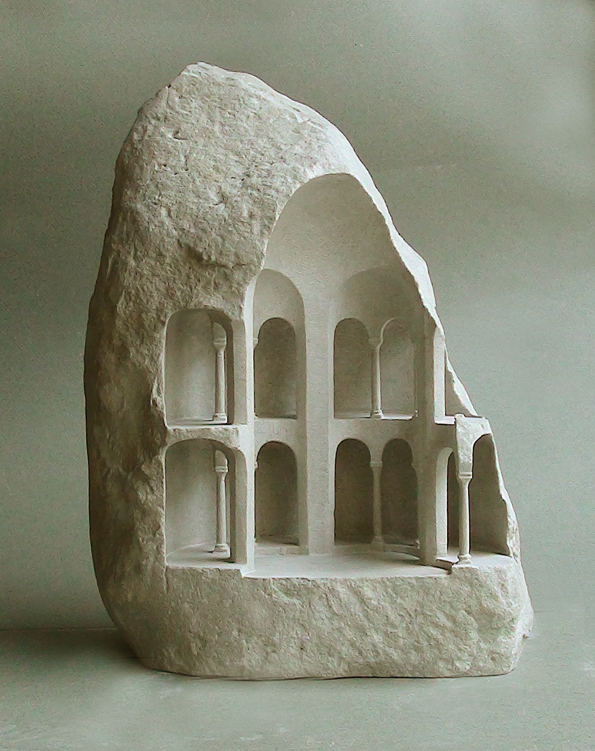 Gallery of stone sculptures reveal monumental architecture