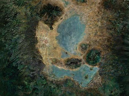 Cuenca del Valle de México, 1850. Image Cortesía de Taller13