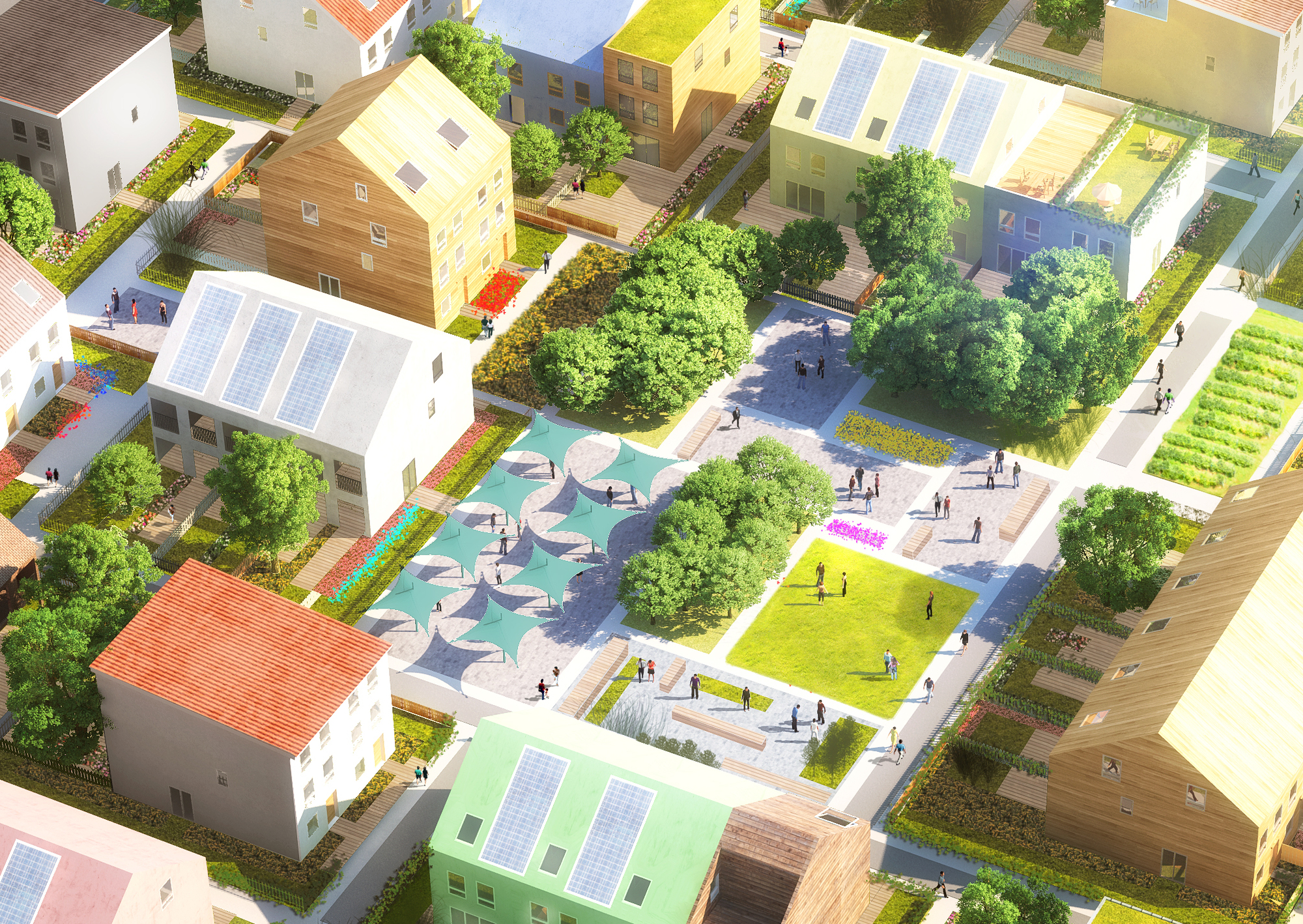 Mvrdv partners with traumhaus to reinvent affordable living in the suburbs architecture news - Housessquare meters three affordable projects ...