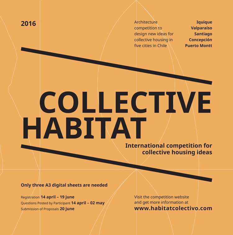 Open Call: Collective Habitat: International Competition For Collective Housing Ideas, Collective Habitat Poster