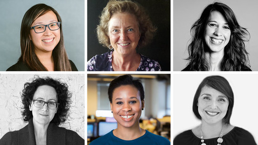Female Architects Speak Out About Gender Differences in New York Times Article, Clockwise from top left: Rosemary Park, Rebecca G. Barnes, Amity Kurt, Patricia Galván, Farida Abu-Bakare and Claire Weisz, women who responded to the survey. Image via The New York Times