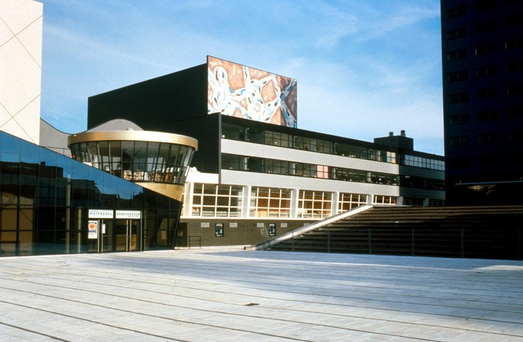 What The Demolition of OMA's Netherlands Dance Theatre Says About Preservation in Architecture, OMA's Netherlands Dance Theatre was demolished at the end of last year. Image © Hans Werlemann via Metropolis Magazine