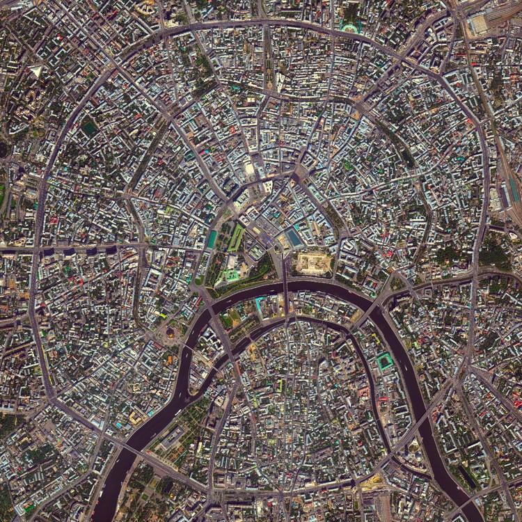 Moscú, Rusia. Imagen cortesía de Daily Overview. © Satellite images 2016, DigitalGlobe, IncCourtesy of Daily Overview. © Satellite images 2016, DigitalGlobe, Inc