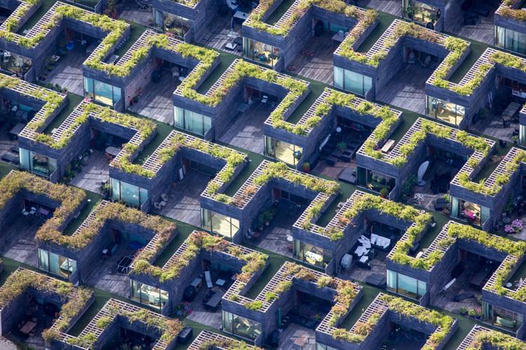Distrito Ørestad en Copenhague, Dinamarca. Image © Alex MacLean