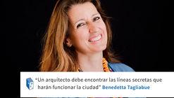 Frases: Benedetta Tagliabue y la ciudad