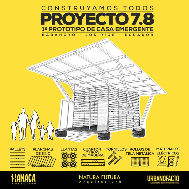 Proyecto 7.8 / Ecuador: prototipo de Casa Emergente post-terremoto , Cortesía de Natura Futura Arquitectura