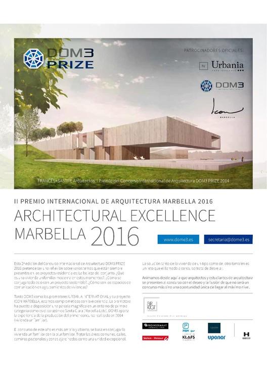 II Premio Internacional de Arquitectura DOM3 PRIZE 2016, DOM3 PRIZE 2016