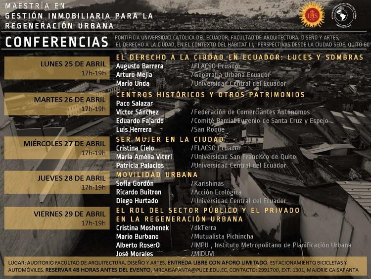 Conferencias: El derecho a la ciudad en el contexto del Hábitat III, Carlos Baraja