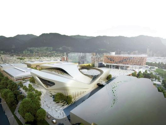 Propuesta de Zaha Hadid Architects y JMPF Arquitectos para el centro internacional de convenciones en Bogotá, en 2011. Image © Zaha Hadid Architects + JMPF Arquitectos