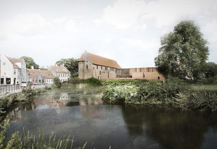 Cubo + jaja ganan concurso para restaurar histórico castillo en Dinamarca, Cortesía de Team Cubo