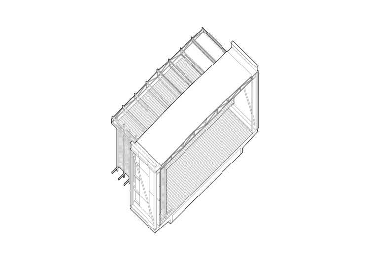 Axonométrica Estructura Pabellón