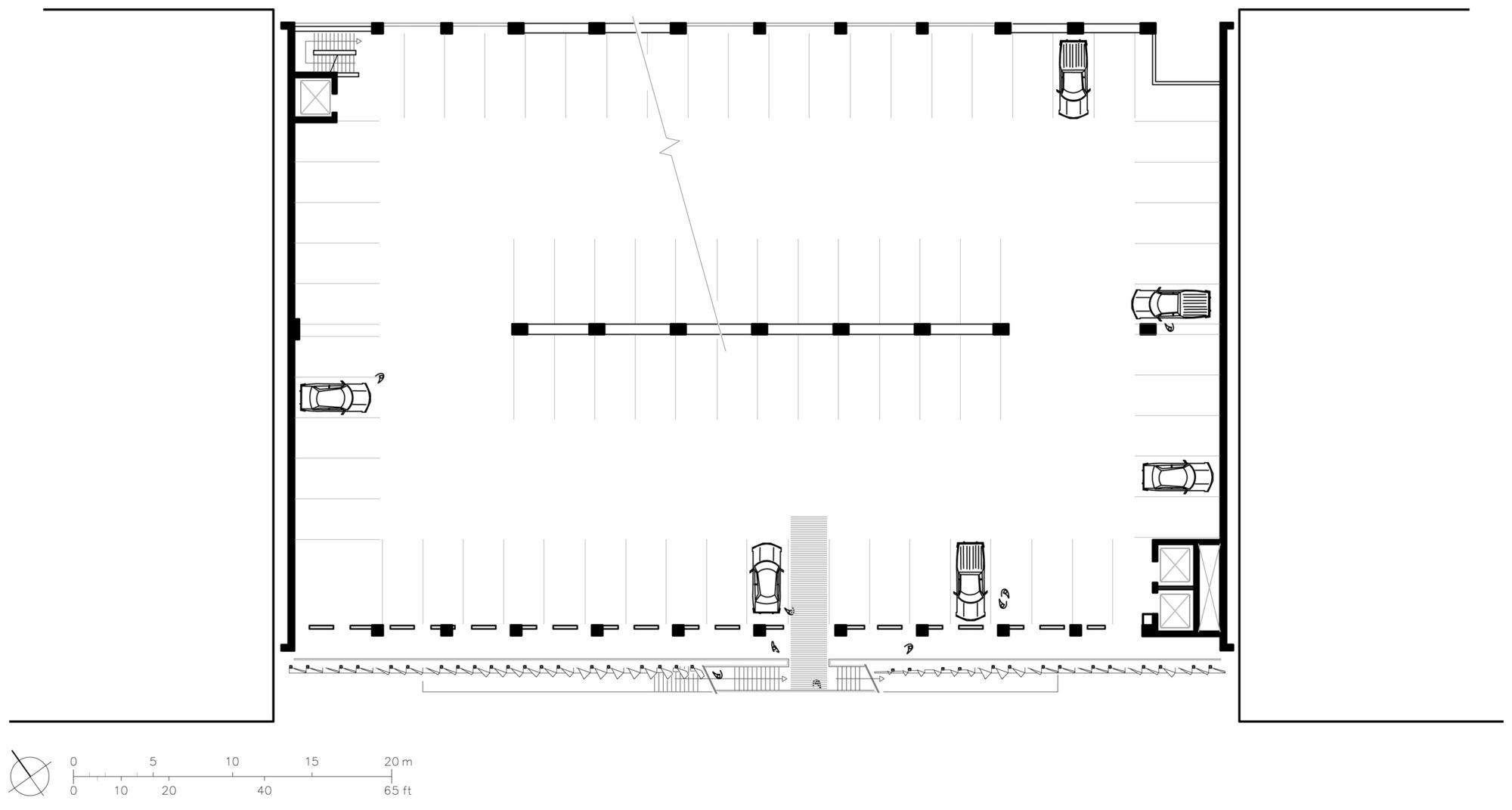 571c8012e58ece2823000112 City Of Santa Monica Parking Structure 6 Behnisch Architekten Studio Jantzen Floor Plan on Parking Garage Floor Plan