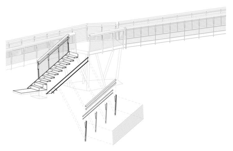 Axonometric Bridge Stair